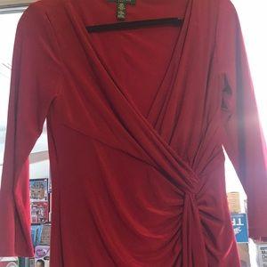 Red Ralph Lauren fitted dress